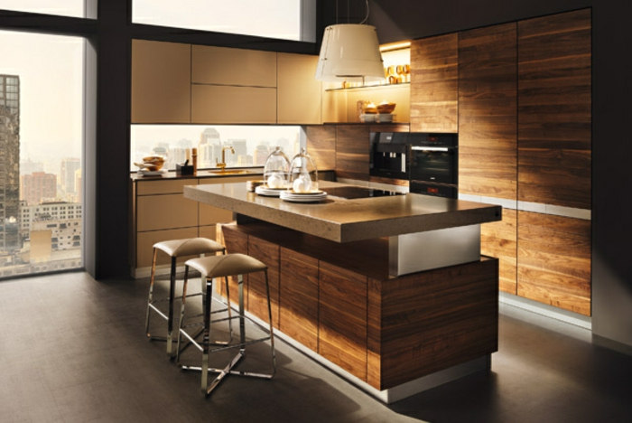farbe-gold-in-der-einrichtung-moderne-küche
