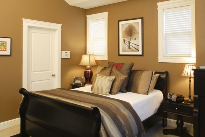 Super Schönes Kleines Schlafzimmer   Goldene Farbe