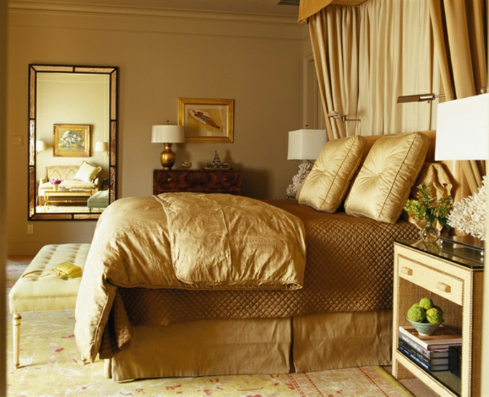 farbe-gold-in-der-einrichtung-wunderschönes-schlafzimmer-modell
