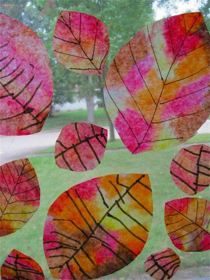 Fensterdeko zum Herbst kreative Vorschläge!