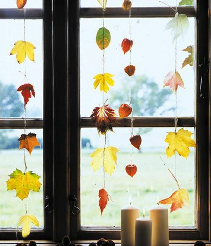 Fensterdeko zum Herbst kreative Vorschläge!  Archzinenet