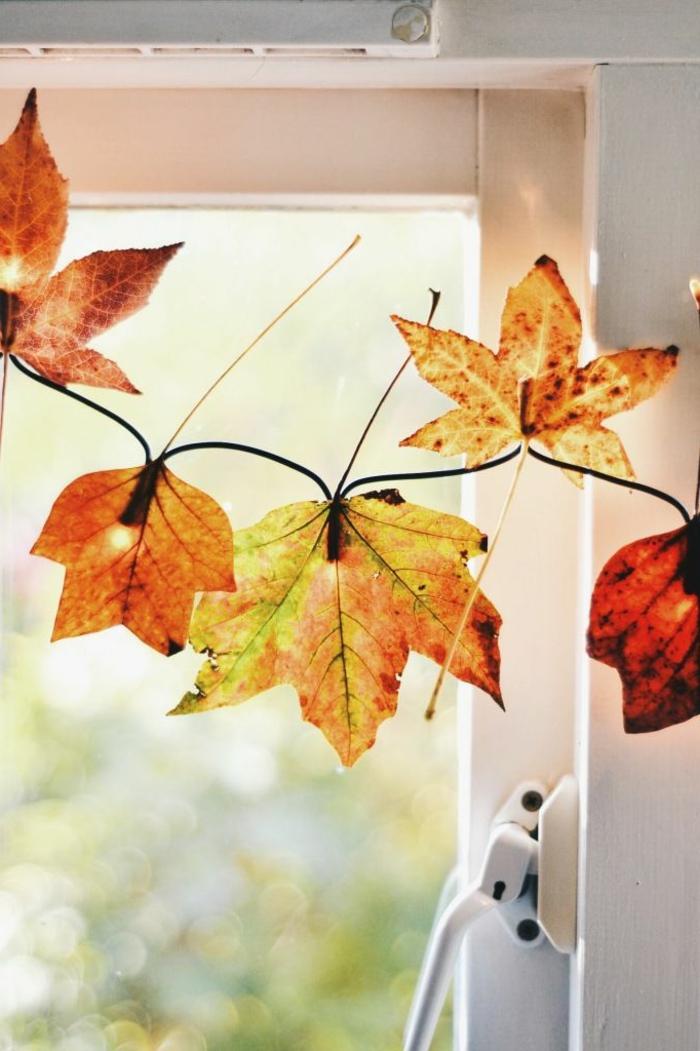 Fensterdeko zum herbst kreative vorschl ge - Herbst fensterdeko ...