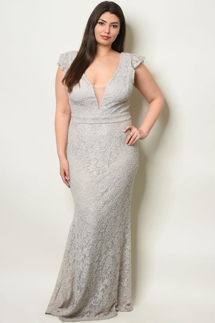 abendmode für damen, gerader silberner abendkleid, festliche kleider für große gößen, abiballkleider