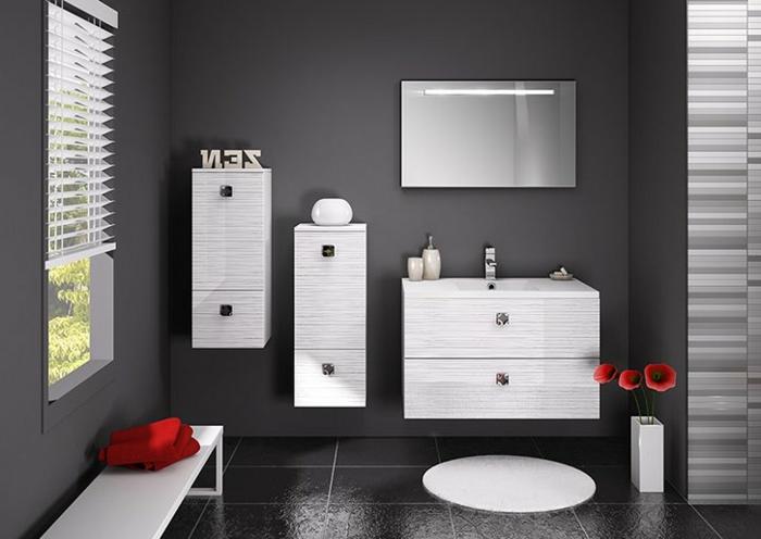 grau-wände-Wandschrank-für-Badezimmer
