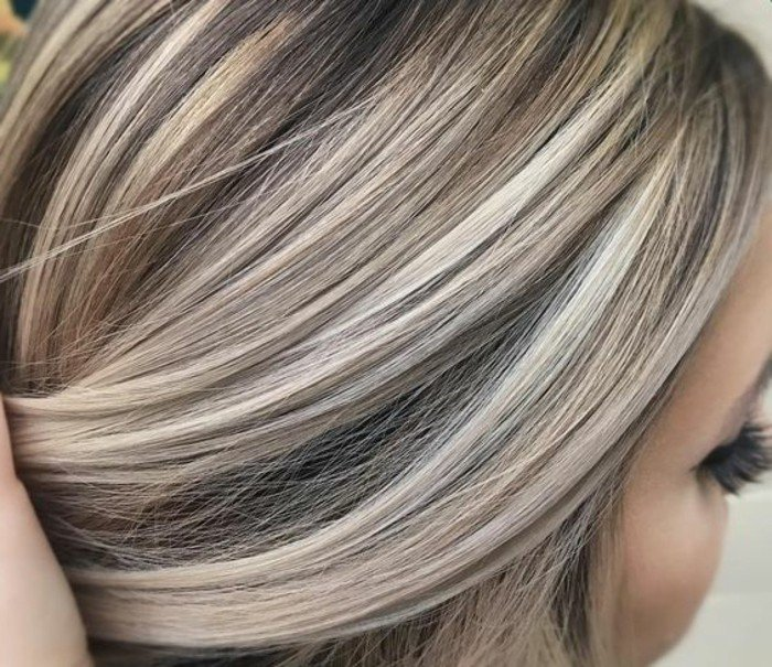 Blonde Haare Braune Strähnen Rf91 Startupjobsfa