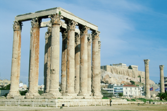 Temple of Olympian Zeus, Athens, Greece --- Image by © Image Source/Corbis
