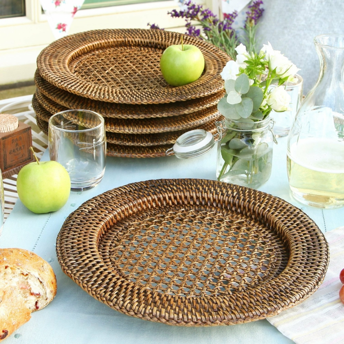handgemachtes-Geschirr-Bambus-Rattan