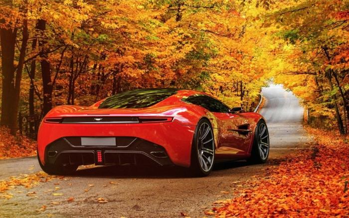 hintergrundbilder-zum-herbst-ein-luxuriöses-auto-rote-farbe