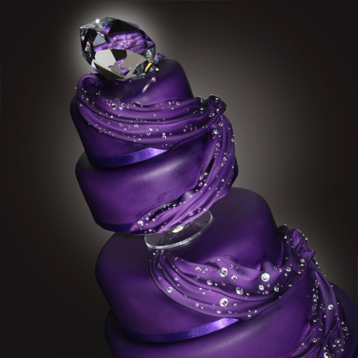 Fondant Wedding Cakes With Flowers