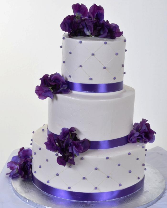 35 Beispiele F 252 R Hochzeitstorte In Lila
