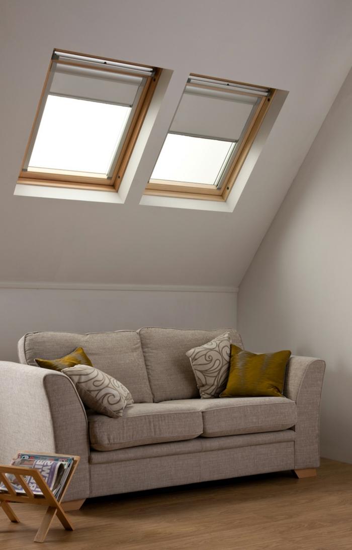 interessante-jalousien-für-dachfenster-weiße-gestaltung