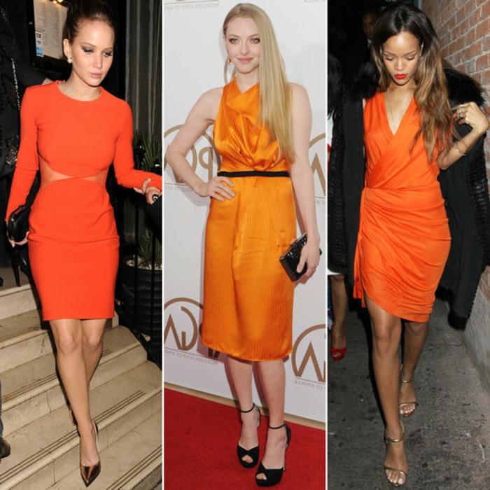 kleid-in-orange-drei-interessante-modelle