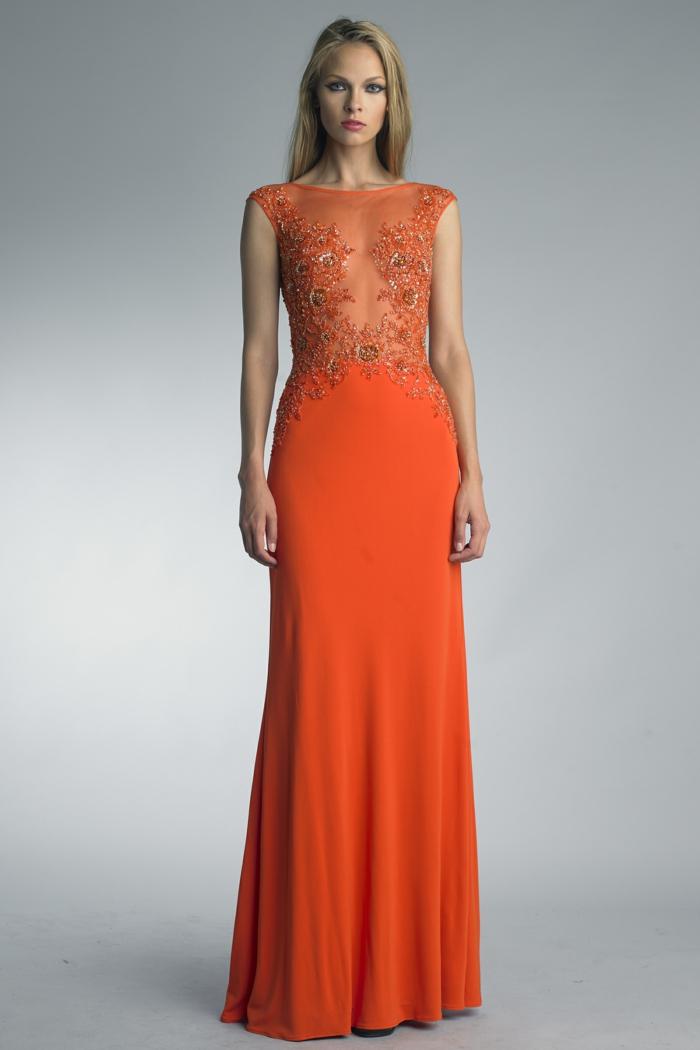 kleid-in-orange-einmaliges-langes-modell