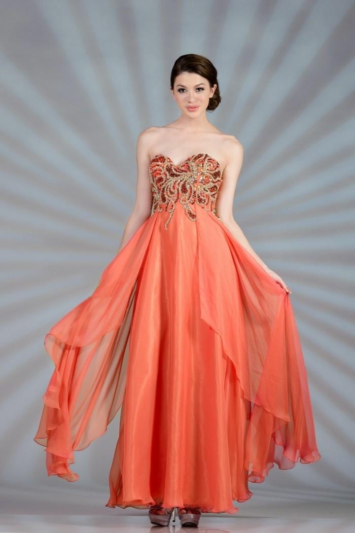 kleid-in-orange-elegantes-aussehen