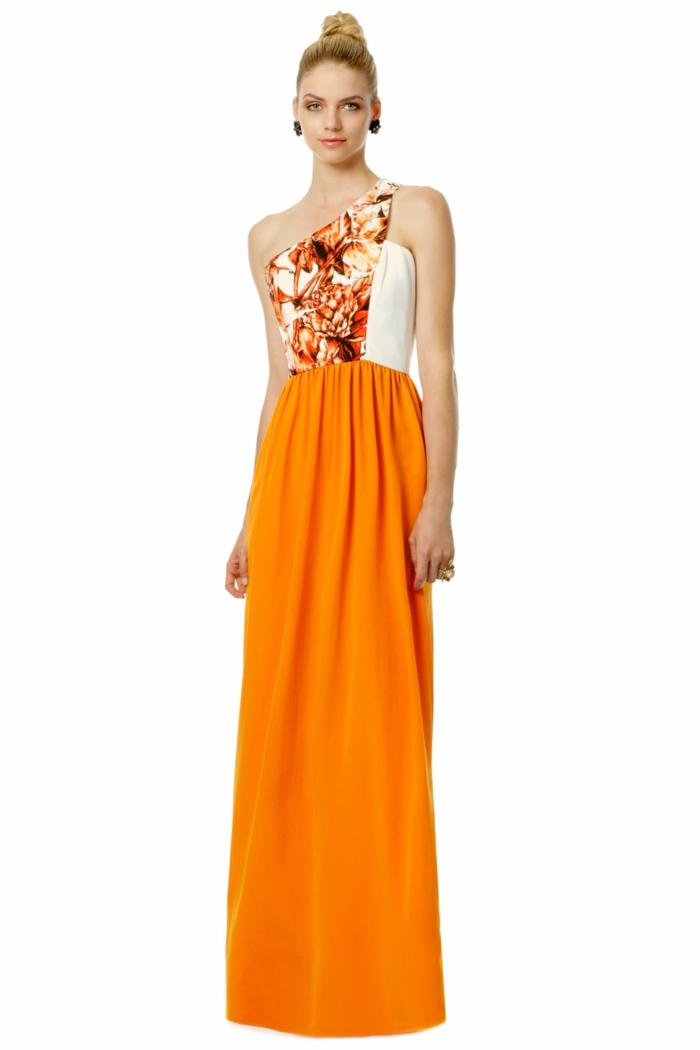 kleid-in-orange-lange-schöne-gestaltung