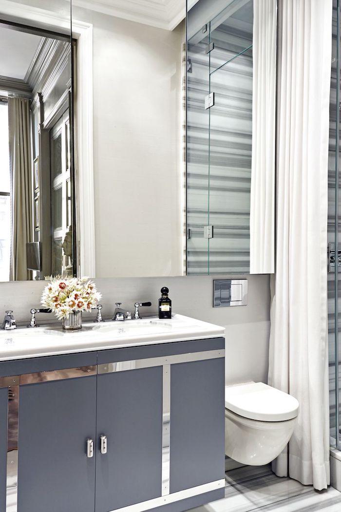 Moderne Badezimmer Ideen, funktioneller Spiegelschrank, Keramik Waschbecken