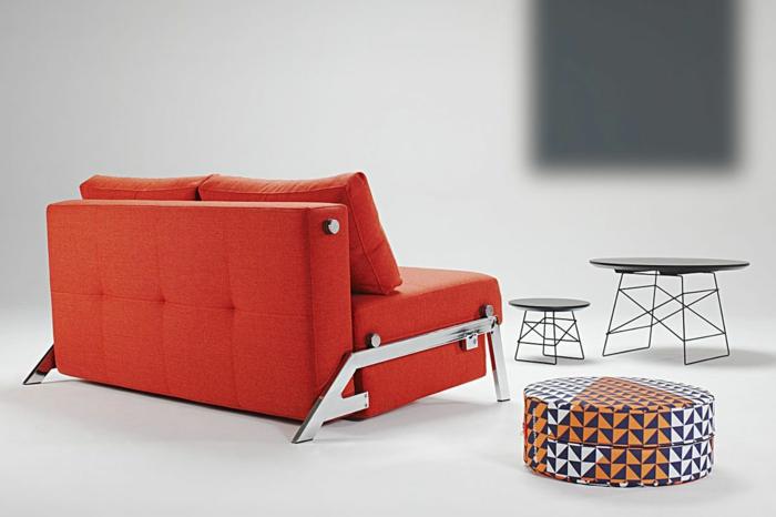 kompaktes-Sofa-praktisch-Schlaffunktion-tomatenrote-Farbe-Hocker-Couchtisch-exquisite-Möbel