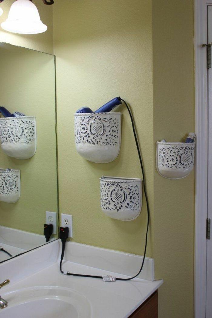 kreative-Idee-Pflanzengefäße-Kosmetik-Haartrockner-Waschbecken-Spiegel