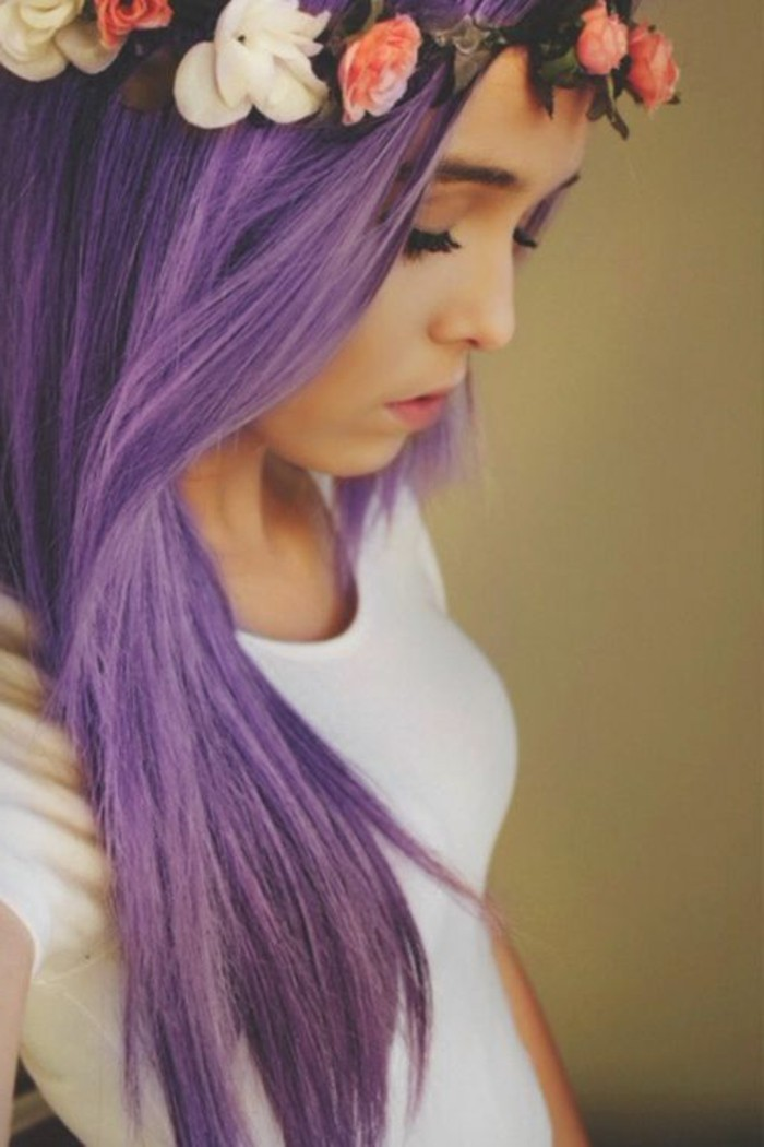 lila haarfarbe modische frisuren f r sie foto blog. Black Bedroom Furniture Sets. Home Design Ideas