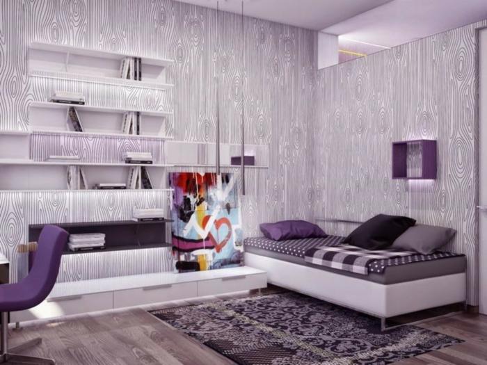 lila-tapete-außergewöhnliches-wohnzimmer