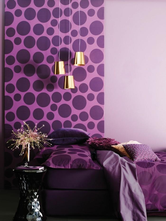 lila tapete schlafzimmer ~ kreative deko-ideen und innenarchitektur, Deko ideen