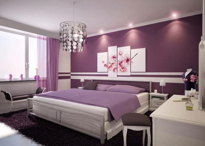 lila-tapete-luxus-schlafzimmer