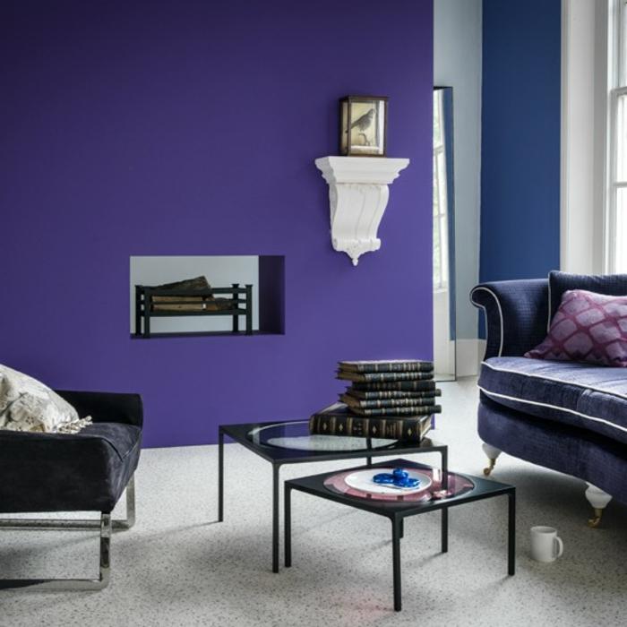 lila-tapete-modernes-interieur