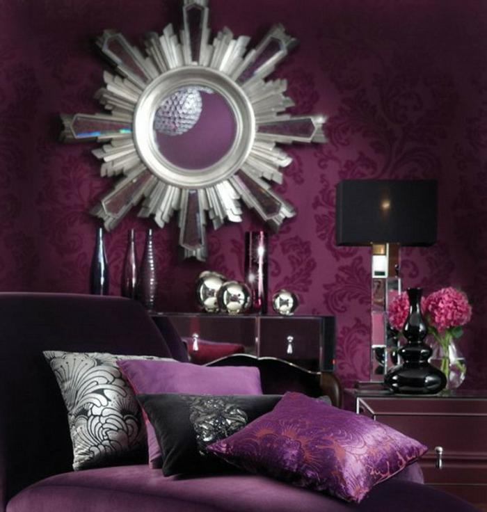 Dunkel Lila Wandfarbe | Die schönsten Einrichtungsideen