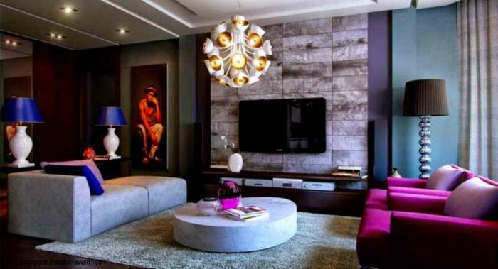 lila-tapete-super-interessantes-wohnzimmer