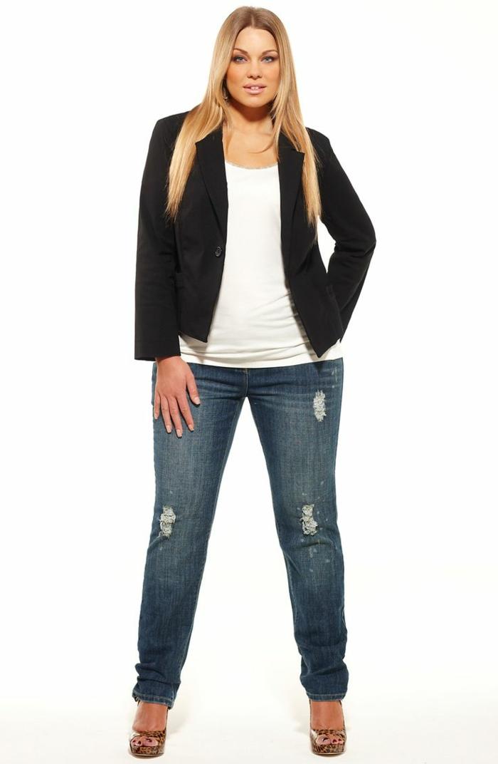 mode-für-mollige-jeans-und-jacke