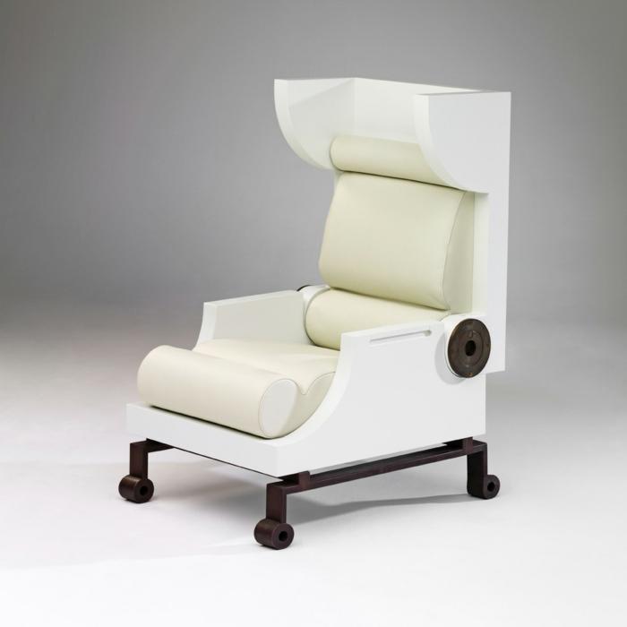 modernes-Möbelstück-Designer-Sessel-Leder-weiß