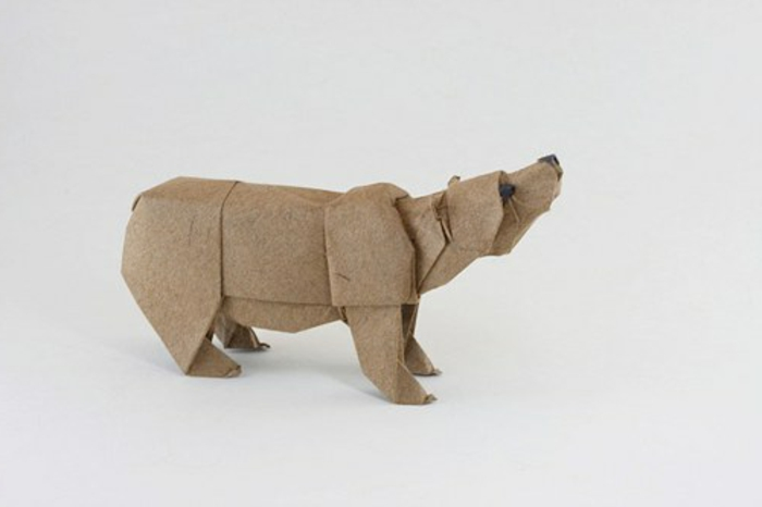 origami-tiere-bär-modell