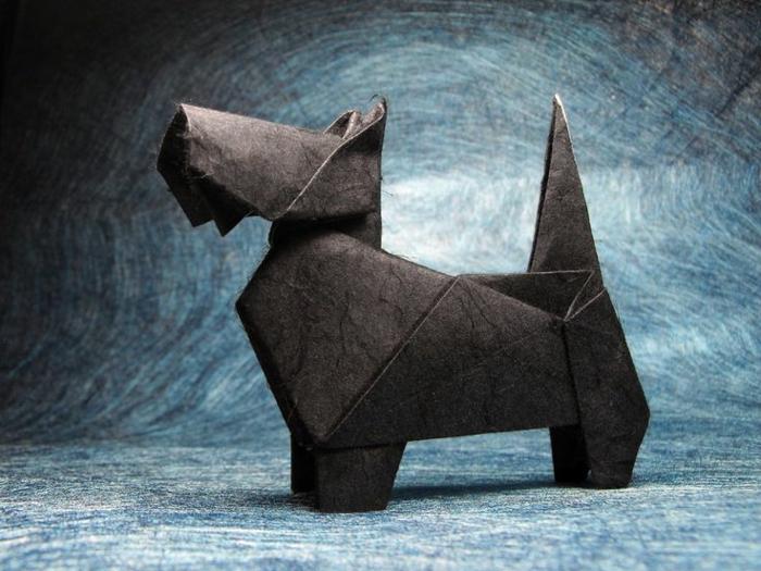 origami-tiere-ein-interessanter-hund