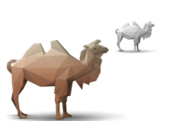 sehr krearive gestaltung kamel origami basteln