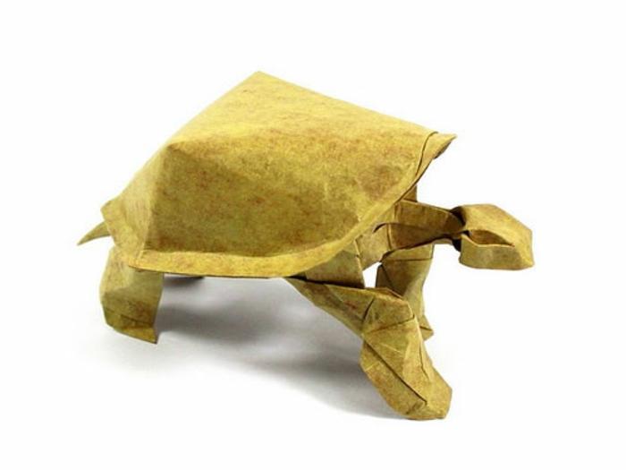 origami-tiere-gelbe-schildkröte