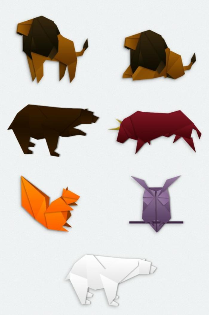 origami-tiere-viele-unterschiedliche-tiere