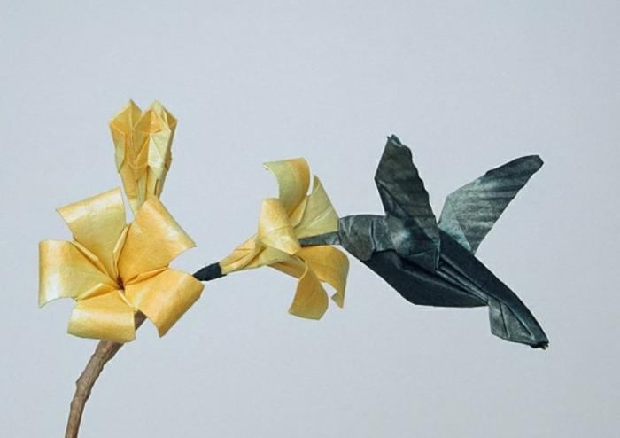 origami-tiere-vogel-und-blume