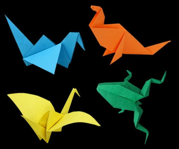 origami-tiere-wunderschöne-bunte-farben