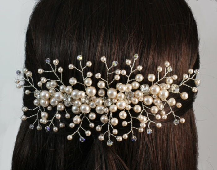 Perlenschmuck haare