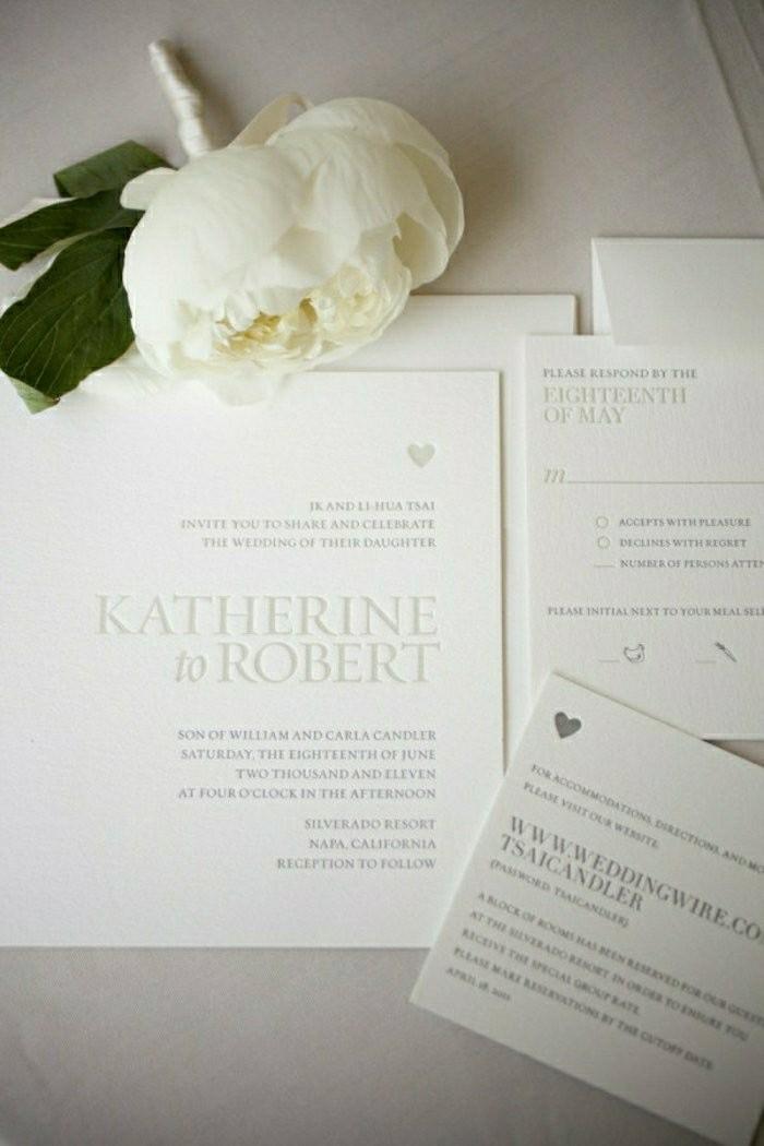 romantische-Hochzeitseinladungen-weiß-schlicht-simpel-traditionell-Pfingstrose-Creme-Farbe