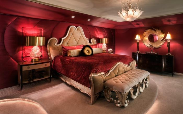 romantisches-bett-rotes-schlafzimmer