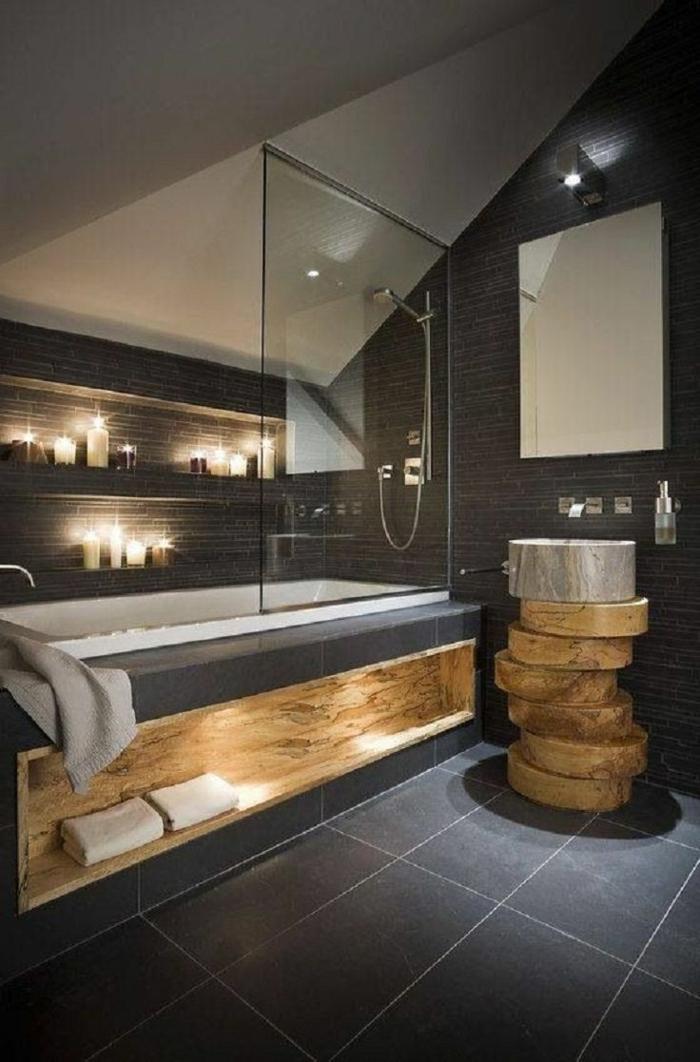 rustikale-Badezimmer-Gestaltung-Bad-Glas-Waschbecken-originelles-Design-Kerzen