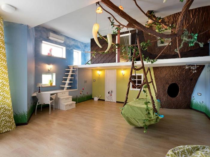 Kinderzimmer  Schaukel im Kinderzimmer? Es lohnt sich für sicher! - Archzine.net