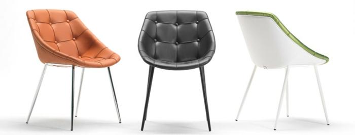 schickes-Modell-Leder-Designer-Stuhl-Knöpfe