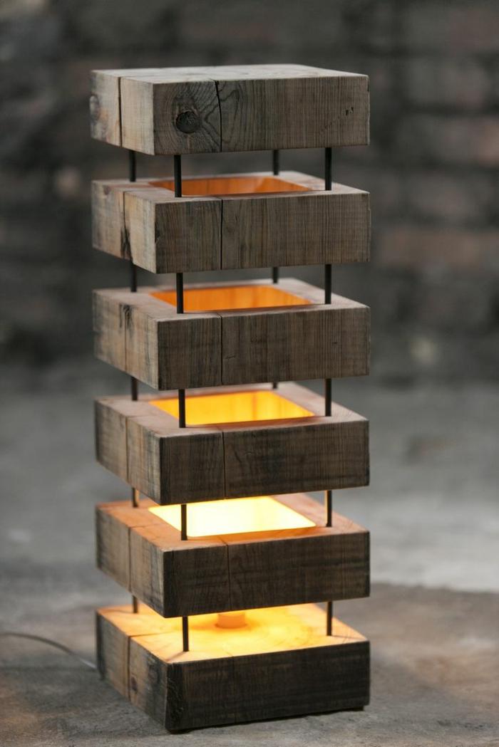 Extravagante designs von stehlampe aus holz - Coole stehlampen ...