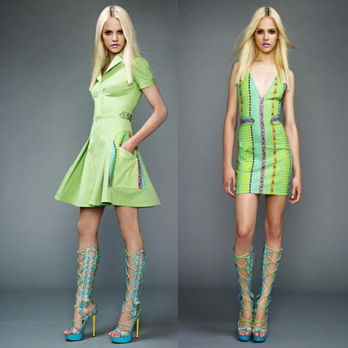 versace-schuhe-schöne-blonde-dame