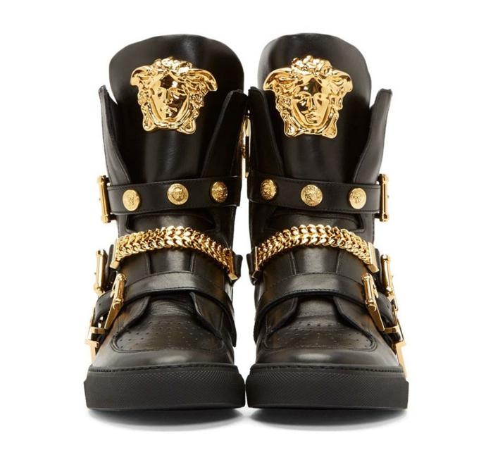 Versace Mens Shoes Gold