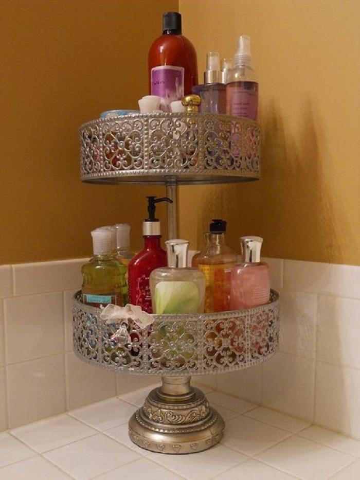 vintage-Ständer-Badezimmer-Kosmetik-Organisation