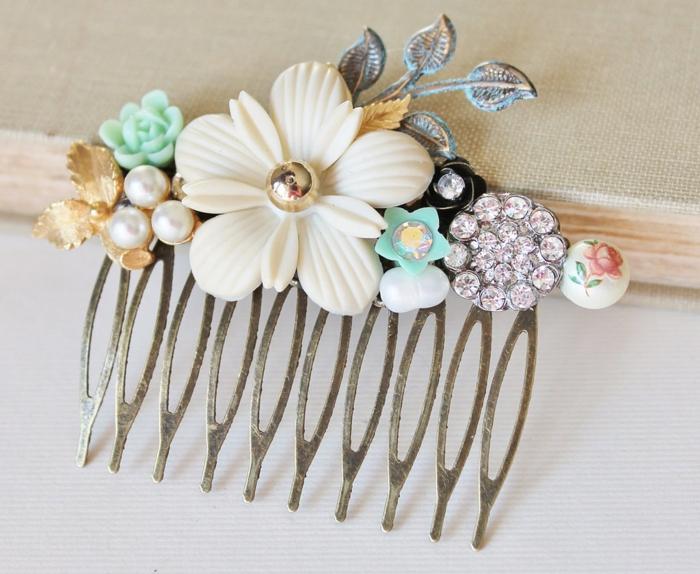 vintage-accessoires-braut-haar