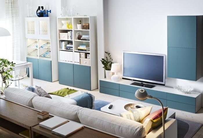 Wandschrank Fr Wohnzimmer Attraktive Blaue Schrnke